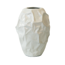 AR21 White textured table vase