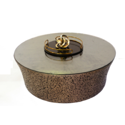 Bronze button round coffee table