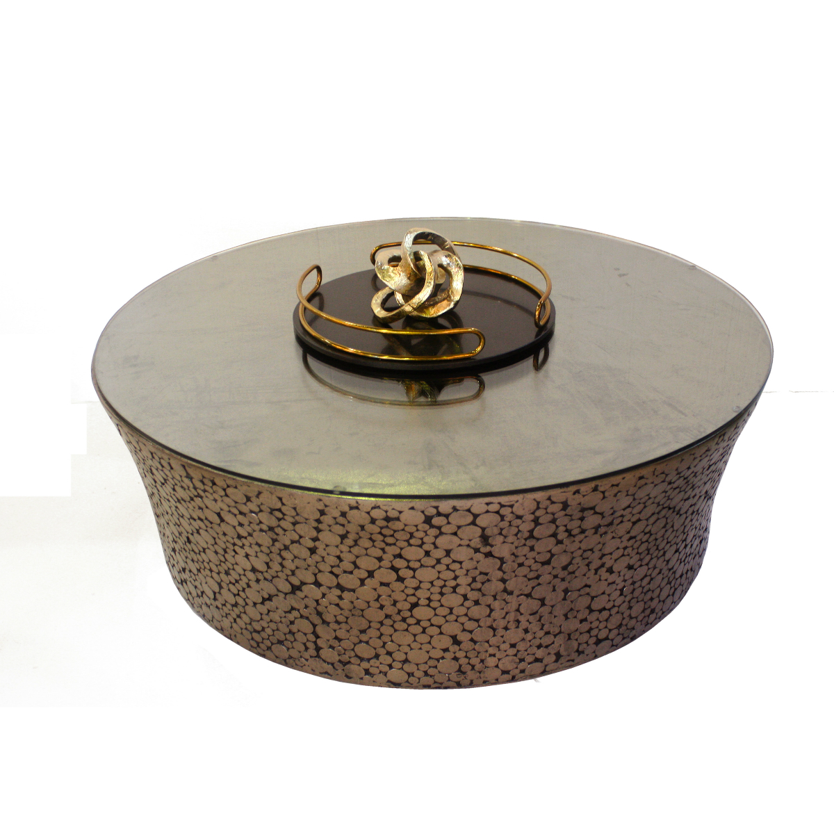 Romano coffee table with glass top isabelina Bronze coffee tables
