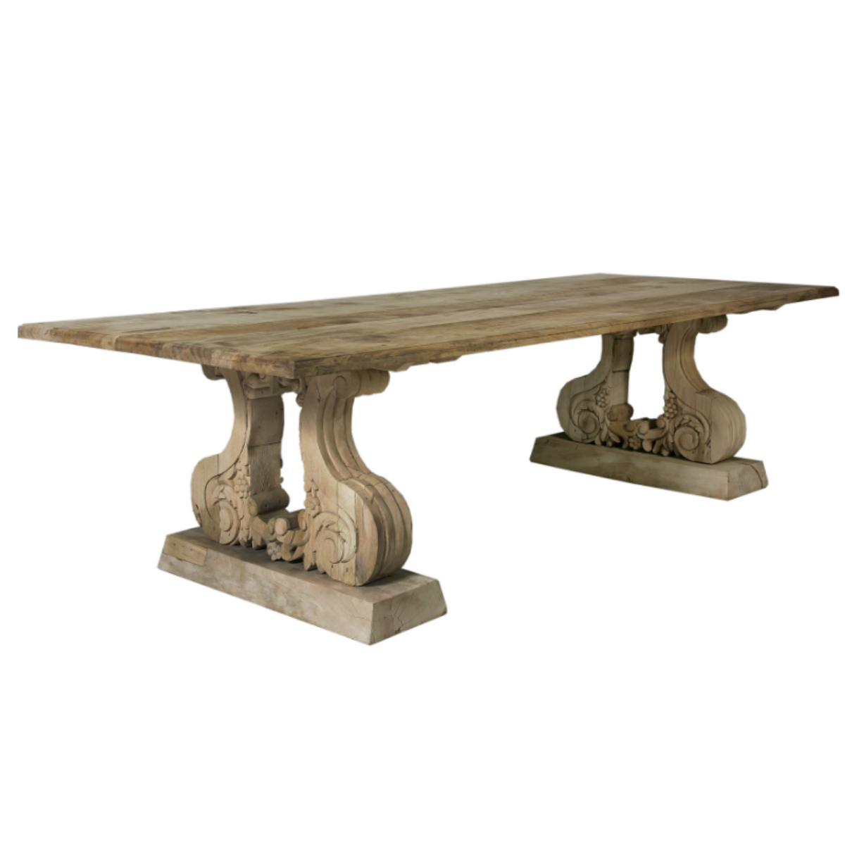 Cut Out Carved Leg With Table Top Dining Table