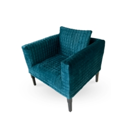 Deep Green Cubed Quilted Chair