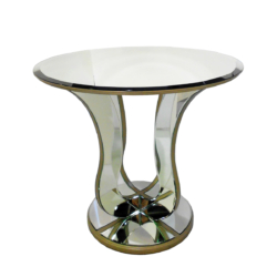 EX016 round mirrored tulip table