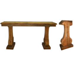 FR103 carved mango wood console server