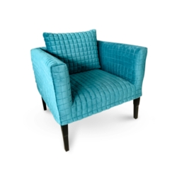 Teal Cubed Quilted Chair DC91