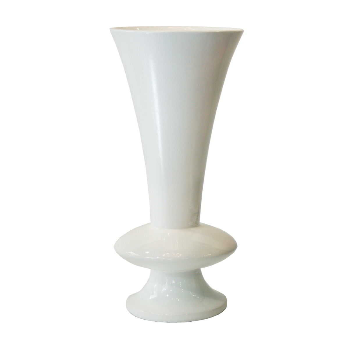AR20 White Large Tall standing fluted vase